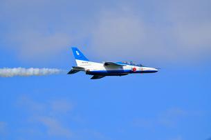 ブルーインパルスのアクロバット飛行の写真素材 [FYI04022519]