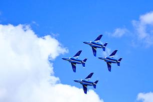 ブルーインパルスのアクロバット飛行の写真素材 [FYI04022532]