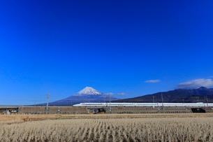新幹線と富士山の写真素材 [FYI04022558]