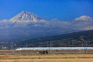 新幹線と富士山の写真素材 [FYI04022562]