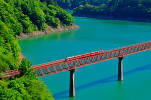 大井川鉄道井川線 奥大井レインボーブリッジの写真素材 [FYI04022827]