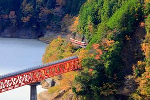 大井川鉄道井川線の列車の写真素材 [FYI04022848]
