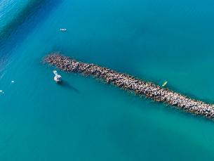 浜名湖 ドローン空撮の写真素材 [FYI04023039]