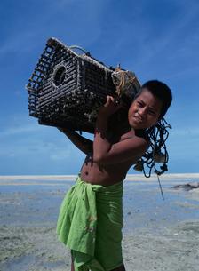 アナゴ漁の仕掛けの写真素材 [FYI04023512]