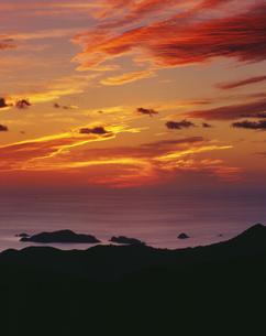 華山より山陰の夕景の写真素材 [FYI04023750]
