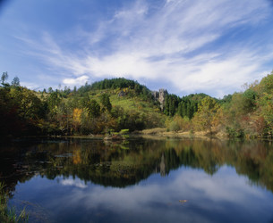 鶴ヶ原の景の写真素材 [FYI04023801]
