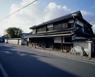 旧豊後街道沿いの町家の写真素材 [FYI04024827]