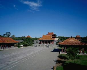 清昭陵方城より望む伽藍全景の写真素材 [FYI04025840]