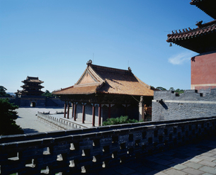 清昭陵方城より望む伽藍全景の写真素材 [FYI04025842]