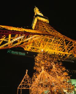 東京タワーのクリスマスイルミネーションの写真素材 [FYI04026104]