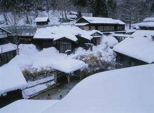鶴の湯温泉 露天風呂の写真素材 [FYI04026173]