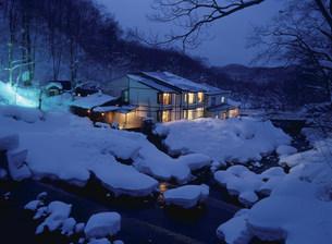 冬の妙の湯温泉の写真素材 [FYI04026365]