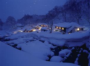 冬の孫六温泉 田沢湖町の写真素材 [FYI04026398]