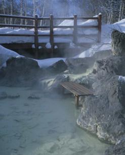 冬の川湯温泉の写真素材 [FYI04026557]