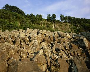 海苔田鼻の玄武岩溶岩の写真素材 [FYI04026715]