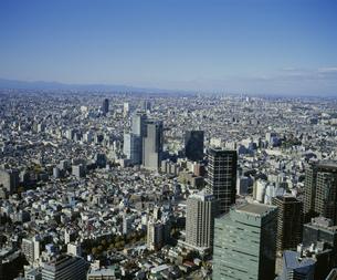 西新宿から望む中野区方面の街並みの写真素材 [FYI04026744]