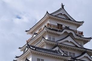曇天の福山城の写真素材 [FYI04027543]