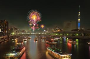 隅田川花火大会の写真素材 [FYI04027553]