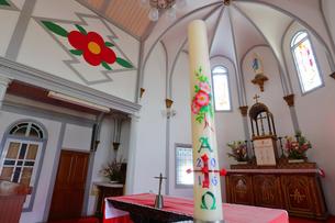 中ノ浦教会 茨の花の写真素材 [FYI04027561]