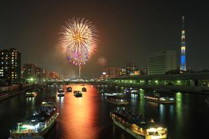 隅田川花火大会の写真素材 [FYI04027578]