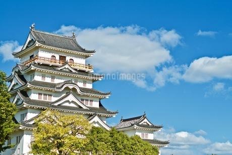 福山城と白い雲の写真素材 [FYI04027611]