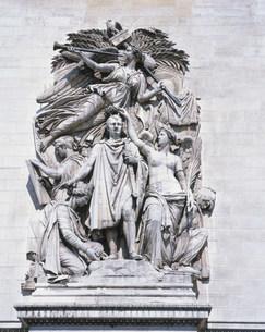 凱旋門壁面の彫刻の写真素材 [FYI04027854]