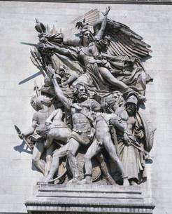 凱旋門壁面の彫刻の写真素材 [FYI04027856]