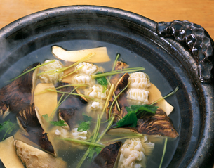 松茸とはもの鍋の写真素材 [FYI04028239]