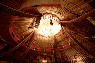 ユルタ(遊牧民のテント)の骨組みの写真素材 [FYI04028950]