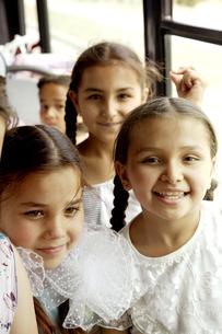 トルクメニスタンの小学生達の写真素材 [FYI04028952]
