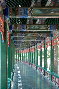 頤和園の長廊の写真素材 [FYI04029013]