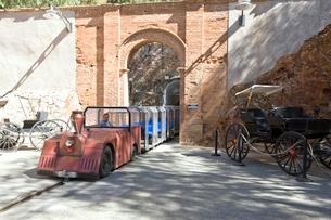 エデン鉱山入口とトロッコ列車の写真素材 [FYI04029285]