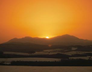 大雪山の日の出の写真素材 [FYI04029664]