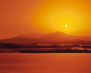 大雪山の日の出の写真素材 [FYI04029684]