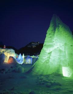 層雲峡氷瀑まつりの写真素材 [FYI04029742]