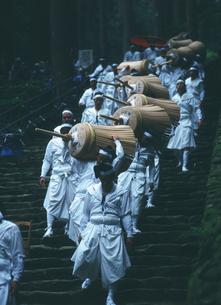 熊野那智大社・火祭り・大松明がお滝広場に到着するの写真素材 [FYI04032347]