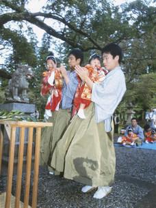 宮渡神事の写真素材 [FYI04032411]