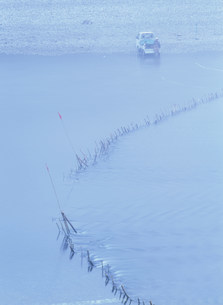 熊野地方の鮎漁ワナの写真素材 [FYI04032656]