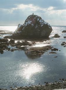 男鹿 弁財天橋からの風景の写真素材 [FYI04032765]