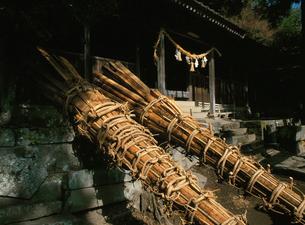 天念寺の修正鬼会 大松明の準備の写真素材 [FYI04032790]