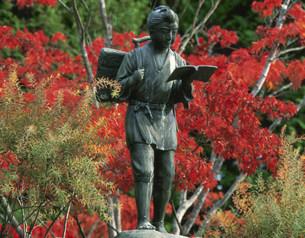 二宮金次郎の像の写真素材 [FYI04032988]