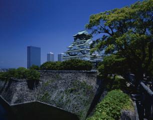 大阪府ビジネスパークと大阪城の写真素材 [FYI04033113]