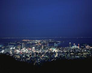 市章山より神戸市街夜景の写真素材 [FYI04033118]