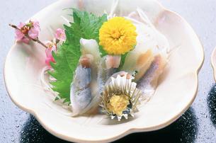 庄川のアユの刺身の写真素材 [FYI04033141]