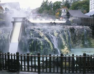 草津温泉湯畑の写真素材 [FYI04033281]