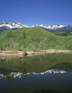 まいめ池からの乗鞍岳 乗鞍高原の写真素材 [FYI04033308]