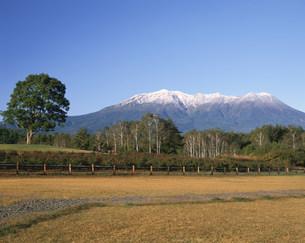 開田高原からの御嶽山の写真素材 [FYI04033324]