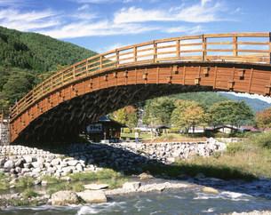 奈良井宿 木曽の大橋の写真素材 [FYI04033326]