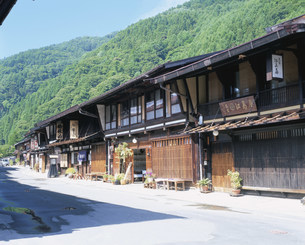 奈良井宿の写真素材 [FYI04033660]