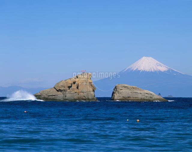 雲見浜から望む富士山の写真素材 [FYI04033790]